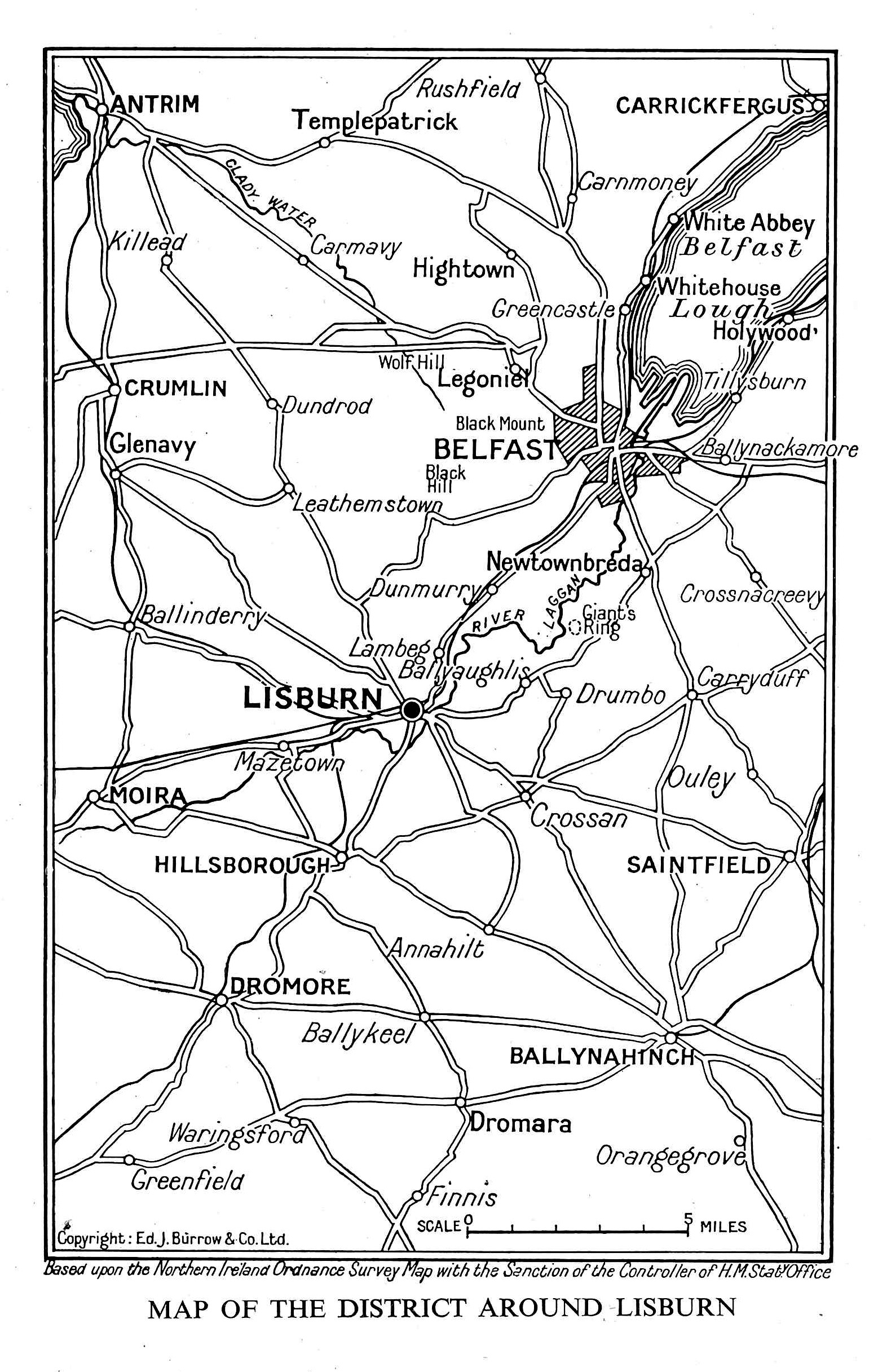 Eddies Book Extracts Guide to Lisburn c1952